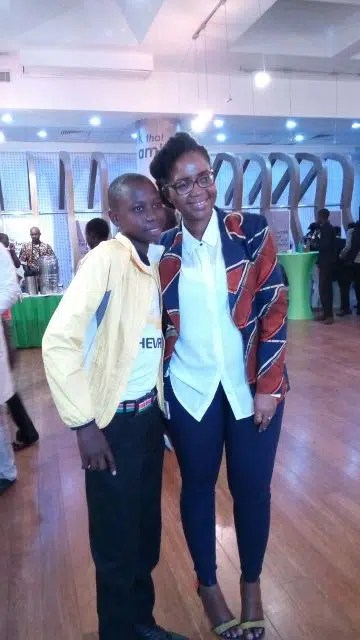 Wanjiru Gaitho with Stephen Kamau, a talented cello player from Ghetto Classics