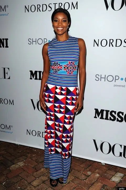 Gabrielle Union in a maxi dress. Image from http://www.huffingtonpost.com/entry/gabrielle-union-wears-bol_n_1129563