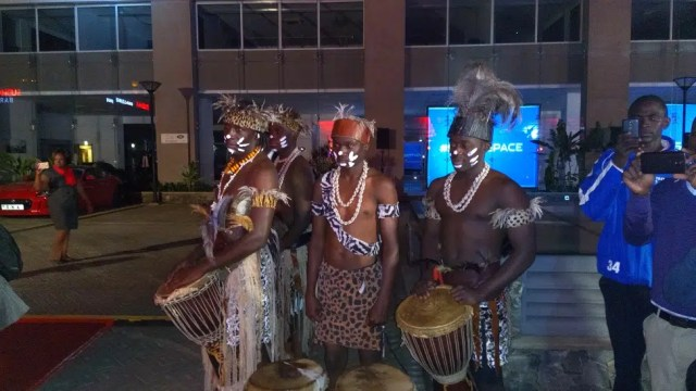 Dancers welcoming the different Jaguars at The Jaguar F Pace launch. Photo taken with the Tecno Canom C9
