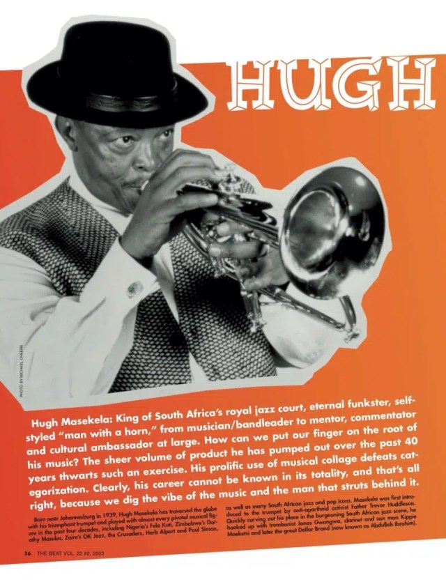 Hugh Masekela. Image from http://www.afropop.org/28546/best-of-the-beat-on-afropop-hugh-masekela/
