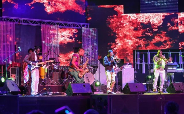 Nairobi Horns Project performing at Safaricom Jazz. Image courtesy of Safaricom.