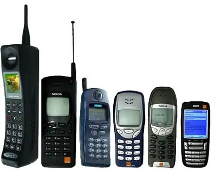 Mobile phones used 15 years ago. Image from http://ow.ly/Vs8y303jaVi