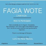 The Fagia Wote Campaign Seems To Be Gaining Momentum