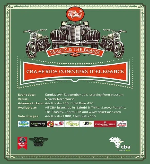 THE CBA Concours D'Elegance 2017 Is Coming Up. Win Tickets