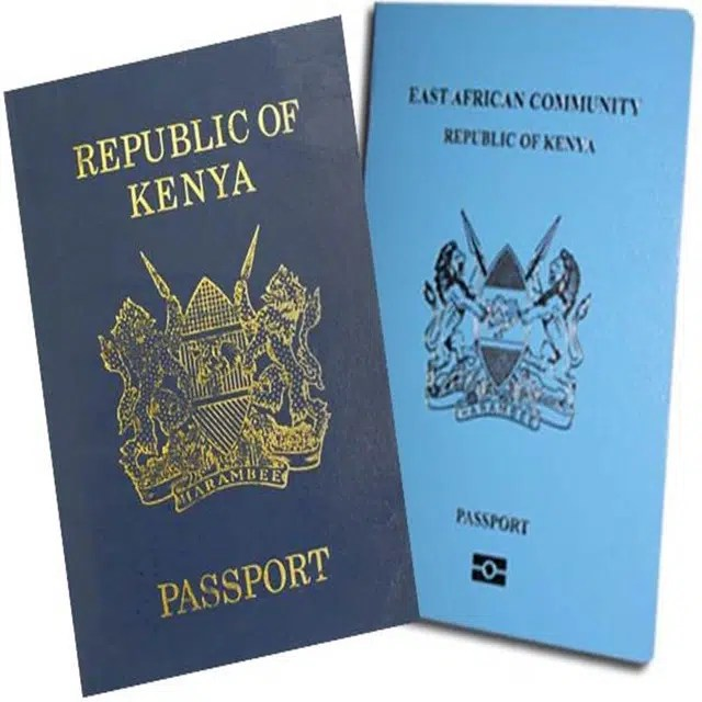 Kenya New and Old Passport side by side - EPassport