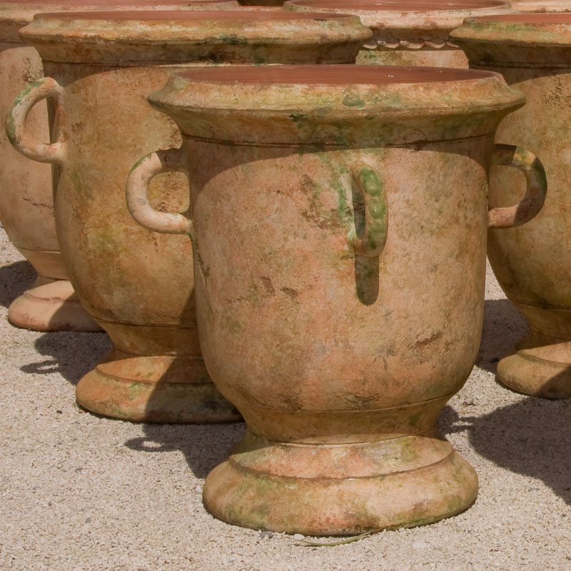 Poterie DAnduze Le Chne Vert Vase Languedoc Quatre Anses