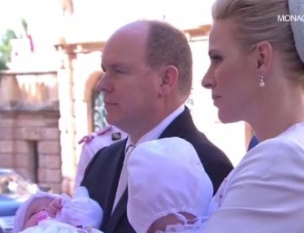Le prince Albert II et Charlène de Monaco : Leurs jumeaux baptisés