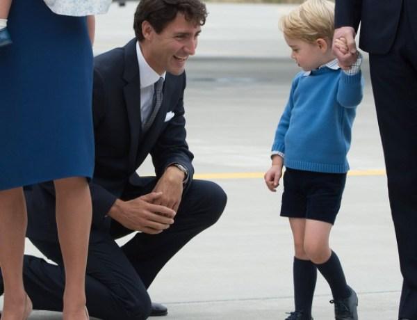 Non, c'est non ! Le prince George refuse de serrer la main du Premier ministre canadien