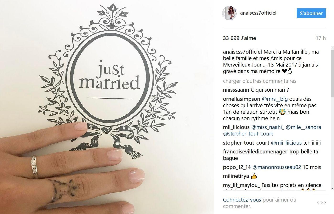 Anaïs Camizuli s'est mariée (Photos)