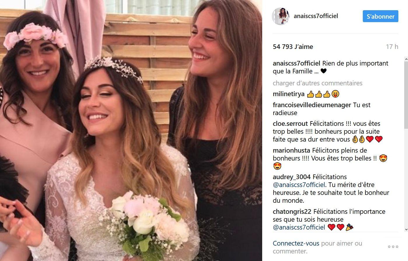 Anaïs Camizuli mariée ! Elle partage son bonheur
