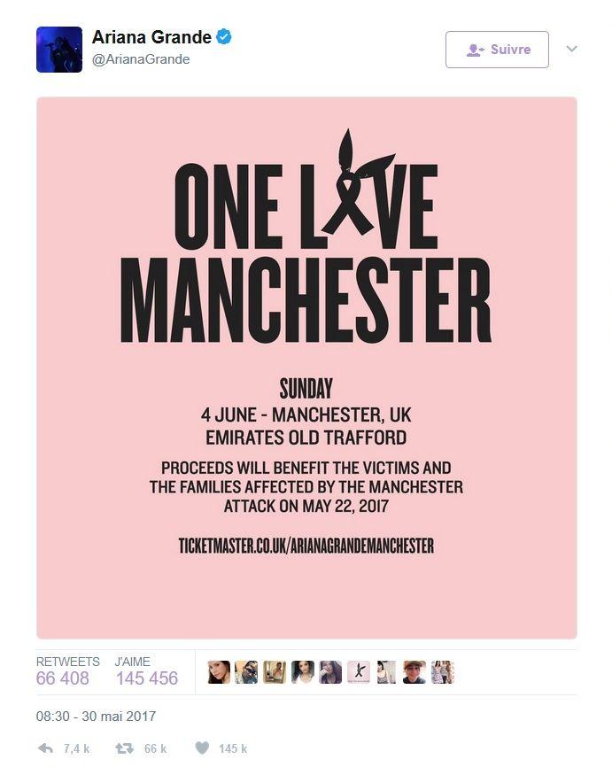Attentat de Manchester: Ariana Grande de retour pour un concert hommage
