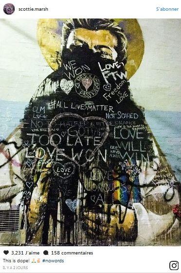 Mariage gay en Australie : Une fresque de George Michael volontairement détériorée !