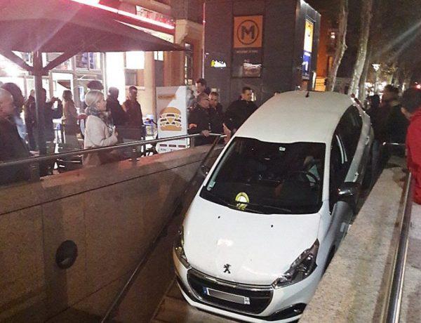 Toulouse : Une automobiliste confond l'entrée du métro avec un parking