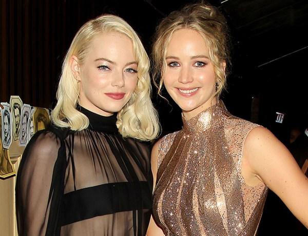 Quand Jennifer Lawrence taquine Emma Stone, c'est beau à voir !