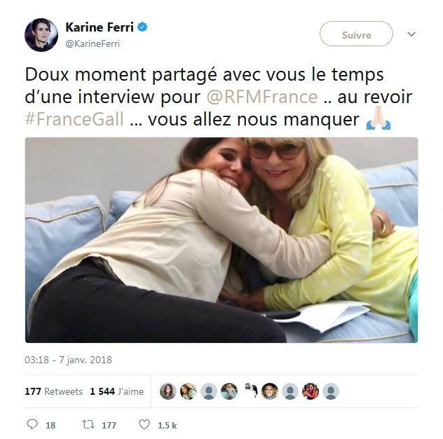 Mort de France Gall : Liée à Karine Ferri par la mucoviscidose, cette dernière lui rend hommage