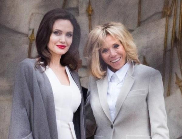 Quand Brigitte Macron reçoit Angelina Jolie à l'Elysée…