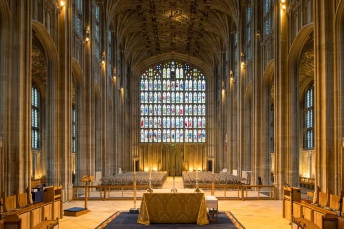 La chapelle Saint-George, le 11 février 2018 au château de Windsor, où le prince Harry et Meghan Markle vont se marier