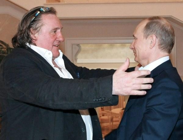 Gérard Depardieu a voté pour la présidentielle russe à Paris