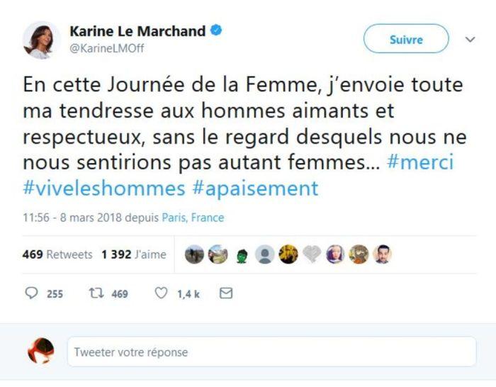 Karine Le Marchand : Son tweet pour la journée de la femme ne passe pas !