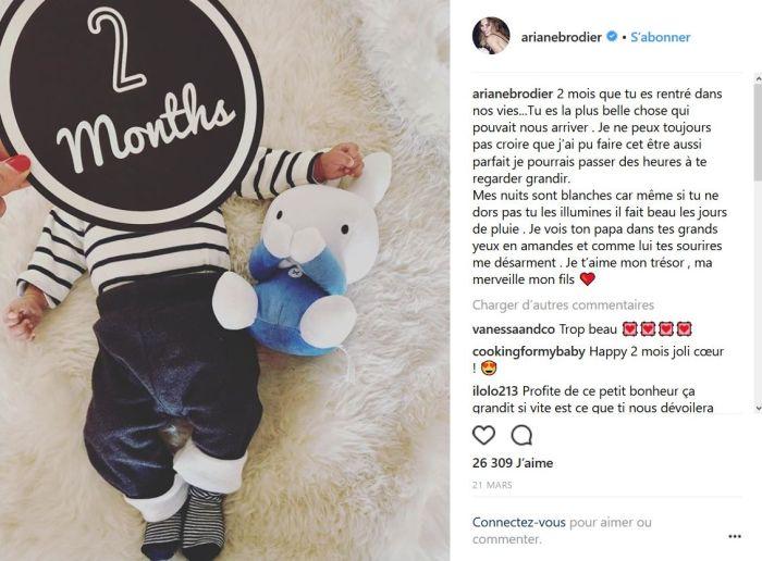 Ariane Brodier : Elle publie un touchant message adressé à son fils
