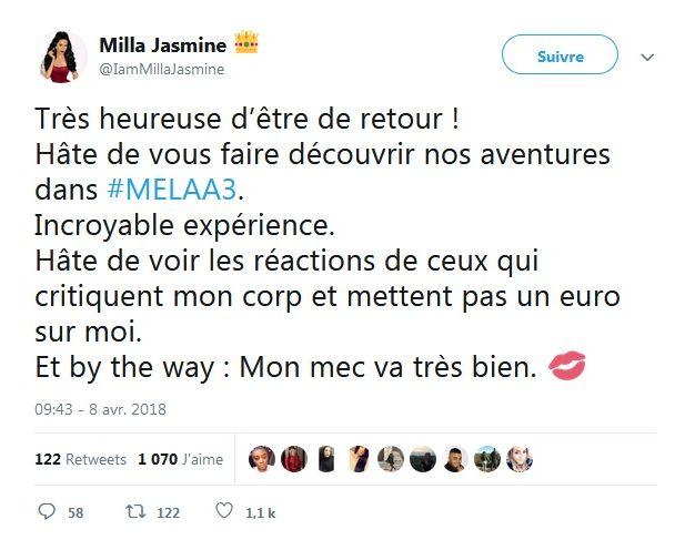 Moundir et les apprentis aventuriers : Milla Jasmine dévoile son impressionnante perte de poids