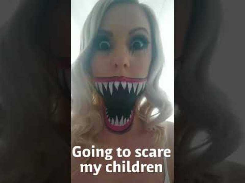 Quand une maman décide de faire peur à ses enfants…