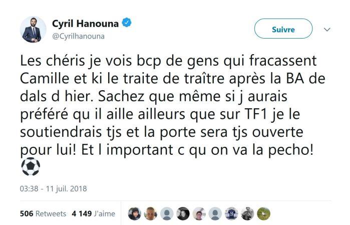 Camille Combal : Taclé par les fans de TPMP, il reçoit le soutien de Cyril Hanouna !