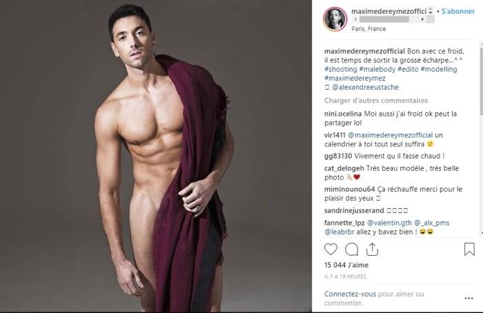 Maxime Dereymez se dévoile tout nu : Ses tablettes de chocolat font fondre