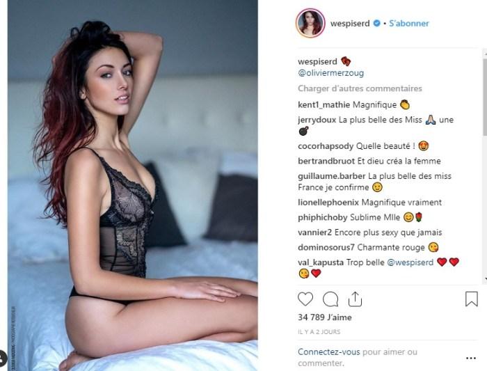 Delphine Wespiser diablement sexy en lingerie fine