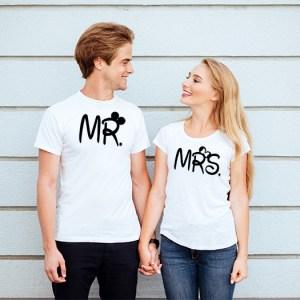 Tričká pre páry – Mrs. & Mr.