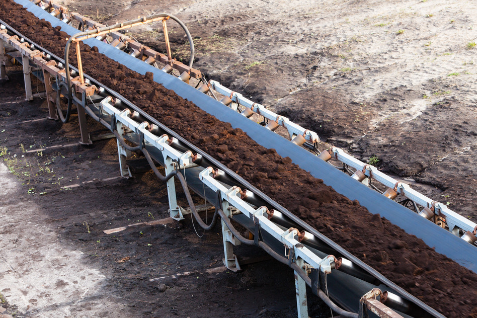 Image result for coal on a belt conveyor