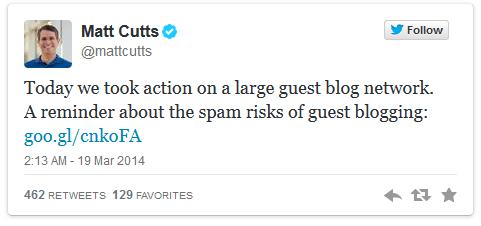 matt cutts tweet myblogguest guest blogging penalty
