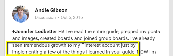 Big Pinterest results from PotPieGirl