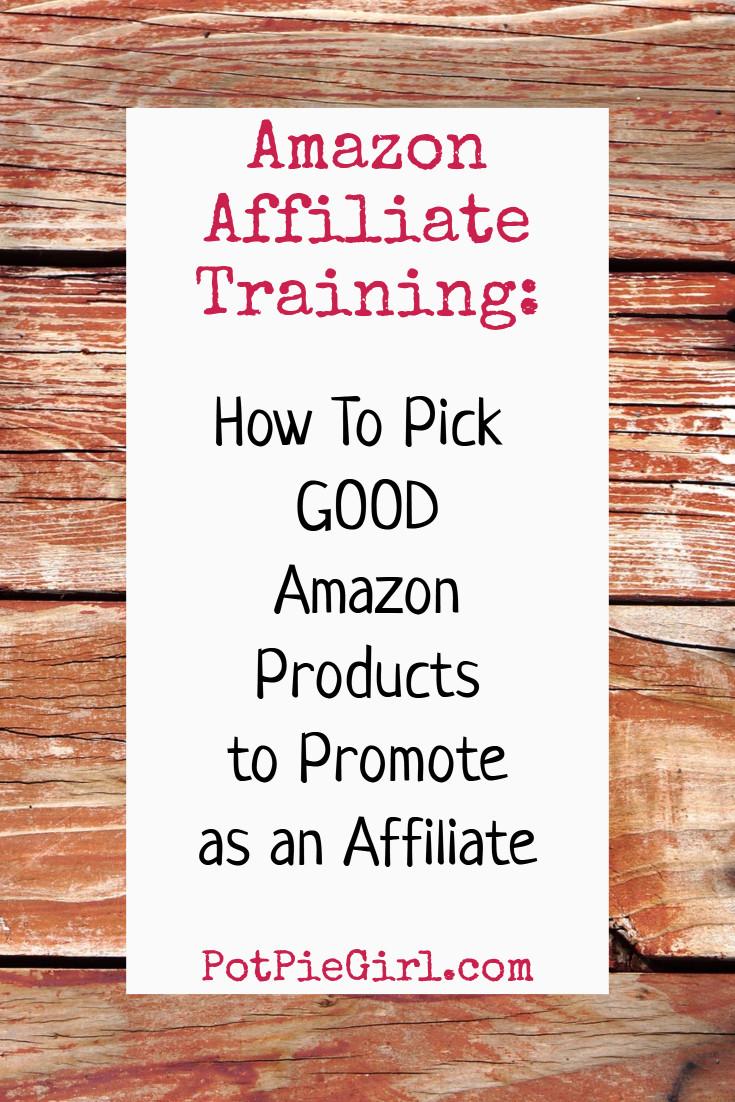 Amazon Affiliates Tips:  How to Pick GOOD Amazon Products to Promote as an Amazon affiliate.