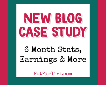 Blogging for money? See how much this brand new blog earns after only 6 months!