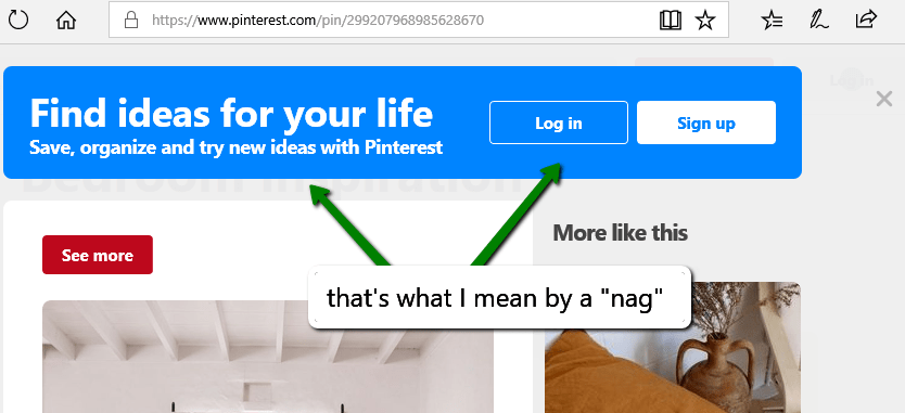 "Pinterest ""nag"" bar"