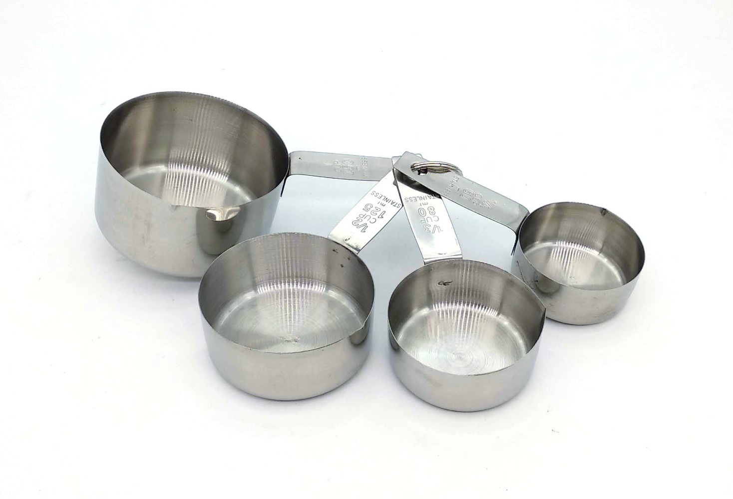 Stainless Steel 4 Pc Cups Baking Cooking Measuring Spoon