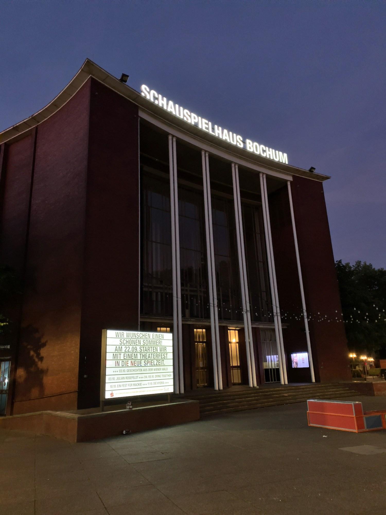 UPDATE: Jetzt mit genauem Zeitplan – Theaterfest vor'm Schauspielhaus Bochum am Sonntag (22.09.2019)