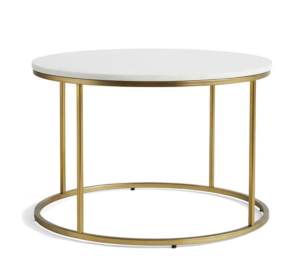 delaney 25 round marble coffee table