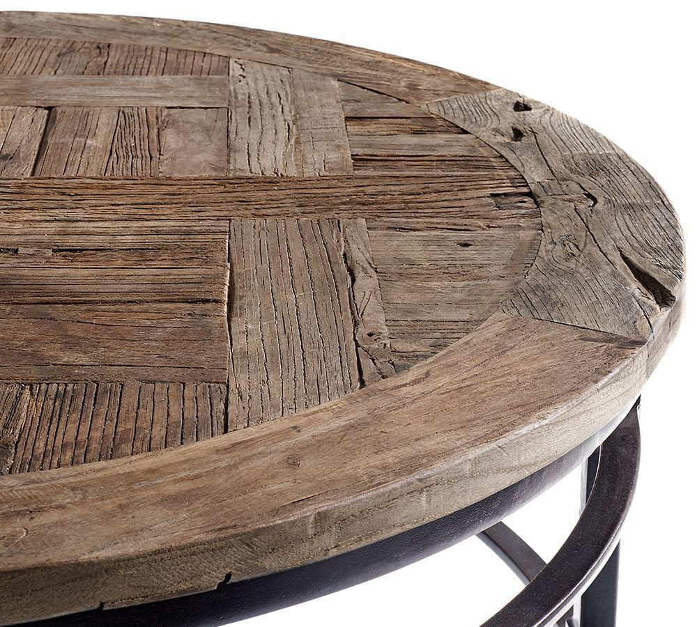 parquet round coffee table