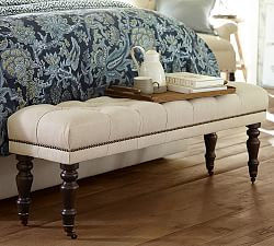 bedroom benches & end of bed seating | pottery barn