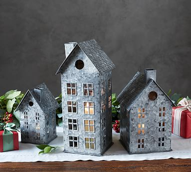 Galvanized Village Houses Pottery Barn
