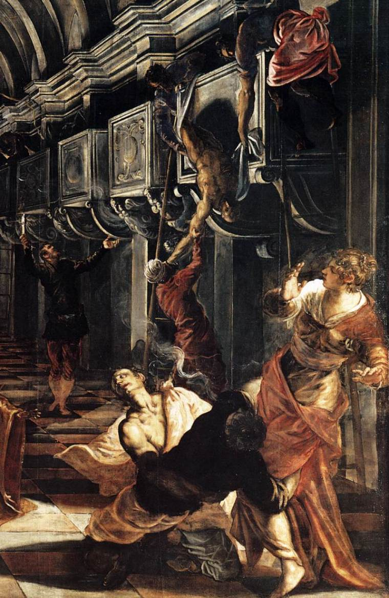 The image perfectly echoes the spectacular sloppiness of Andrea Mantegna's  'Dead Christ.'