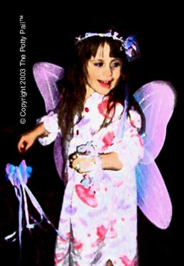 Little girl in Fairy Costume copyright The Potty Pail