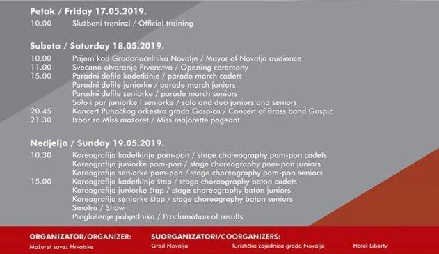 Mažoretkinje grada Gospića sudjeluju na Državnom prvenstvu u Novalji