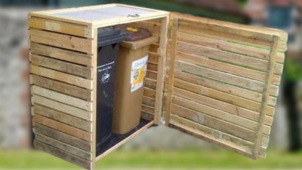 le cache poubelle pour cacher et proteger vos poubelles exterieures