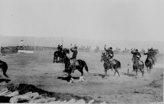 Saber_Exercises,_Crow_Indian_Troop_1st_Cavalry,_Ft._Custer_Montana_1892