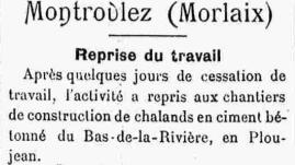Entrefilet du journal Mouez ar Vro de janvier 1921