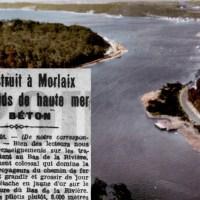 les chalands en béton de la rivière de Morlaix