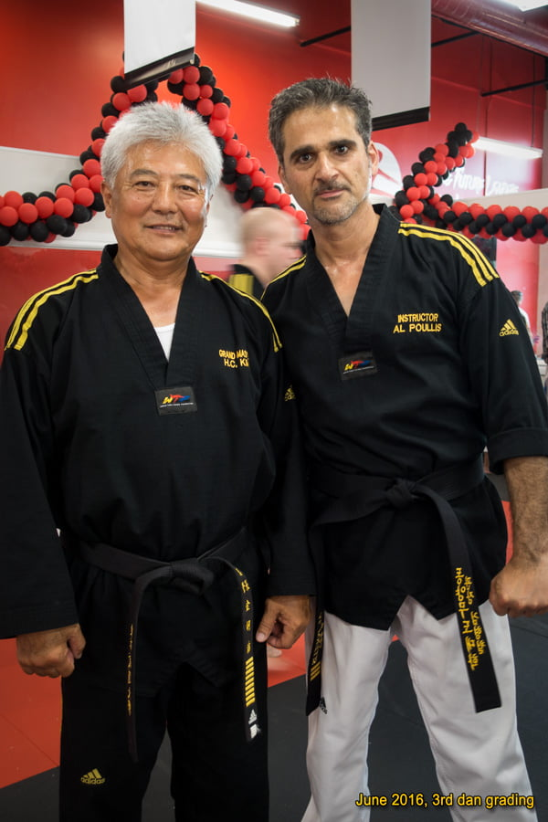 With Grand Master Kim, OMAC Canada, after receiving my 3rd dan